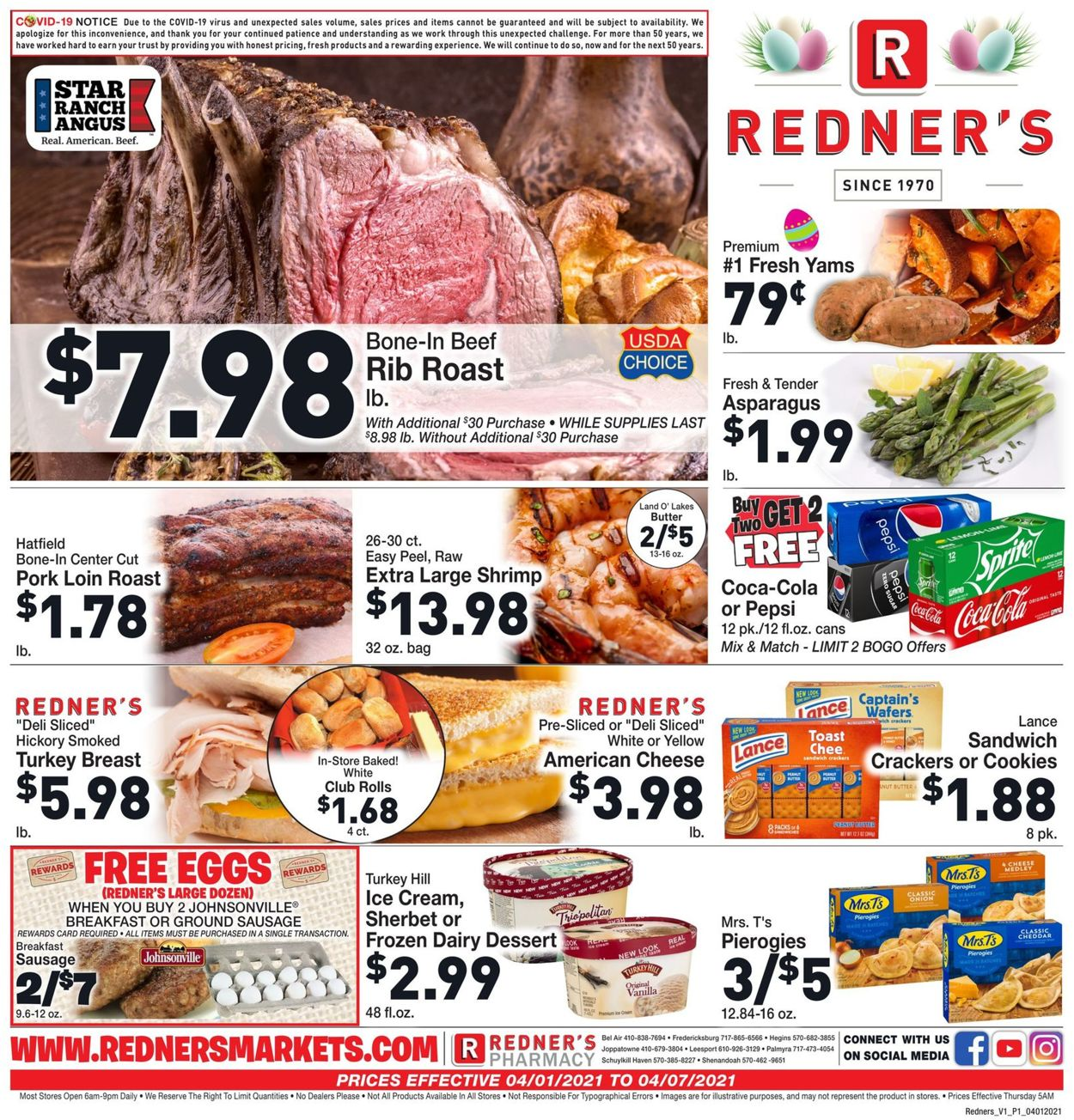 Catalogue Redner's Warehouse Market - Easter 2021 Ad from 04/01/2021