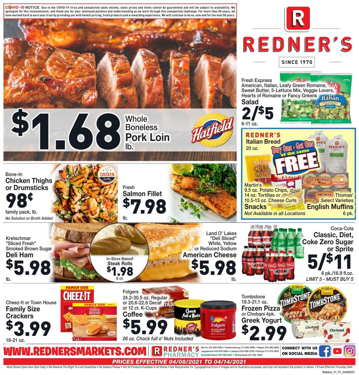 Catalogue Redner's Warehouse Market from 04/08/2021