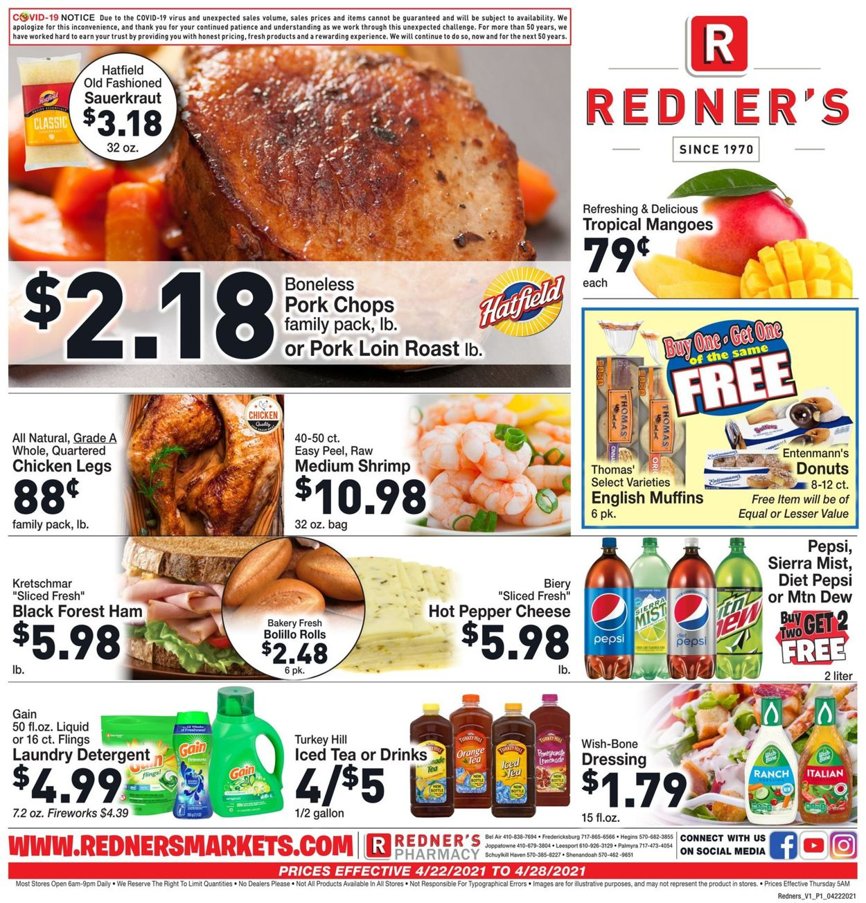 Catalogue Redner's Warehouse Market from 04/22/2021