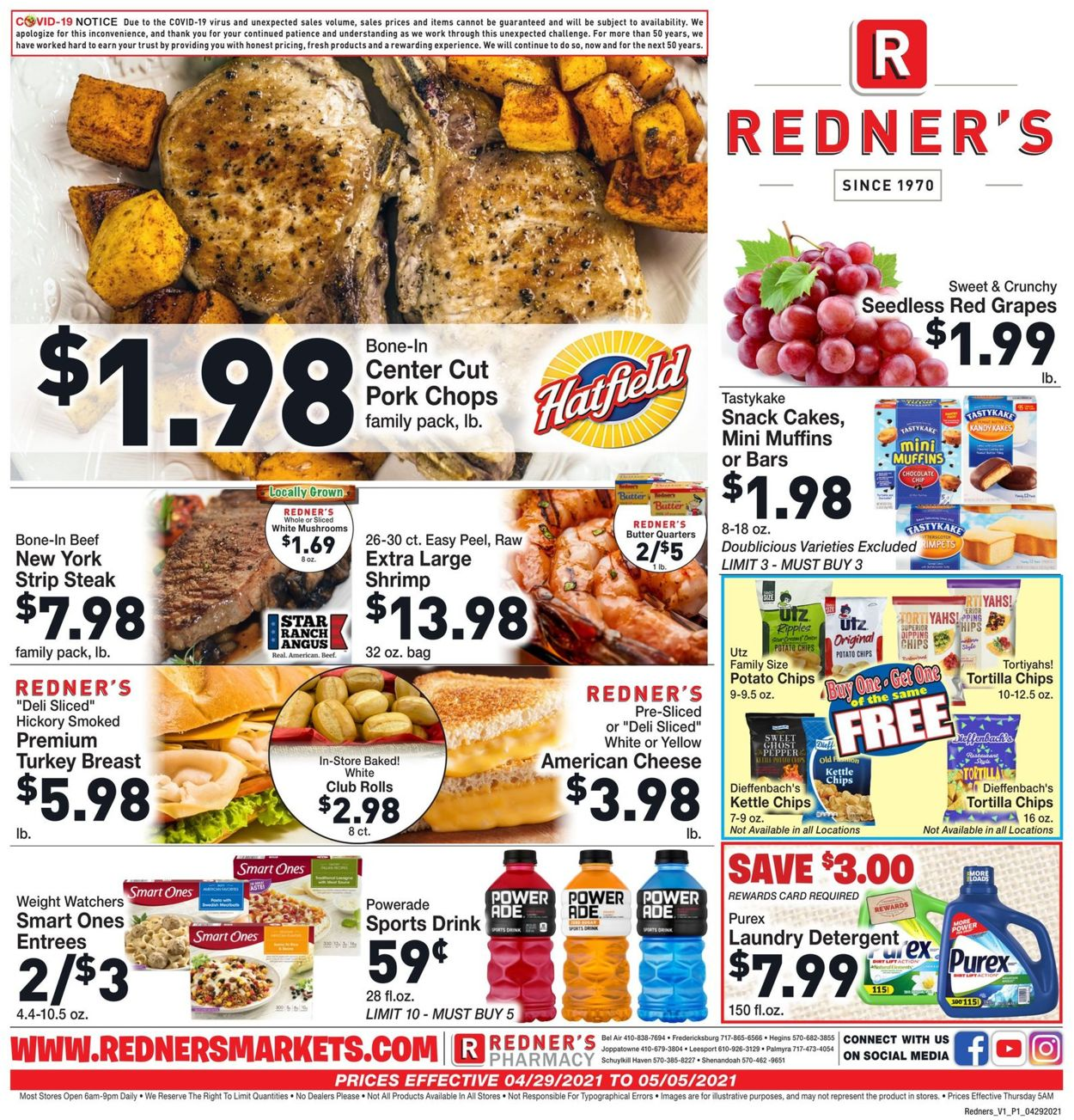 Catalogue Redner's Warehouse Market from 04/29/2021