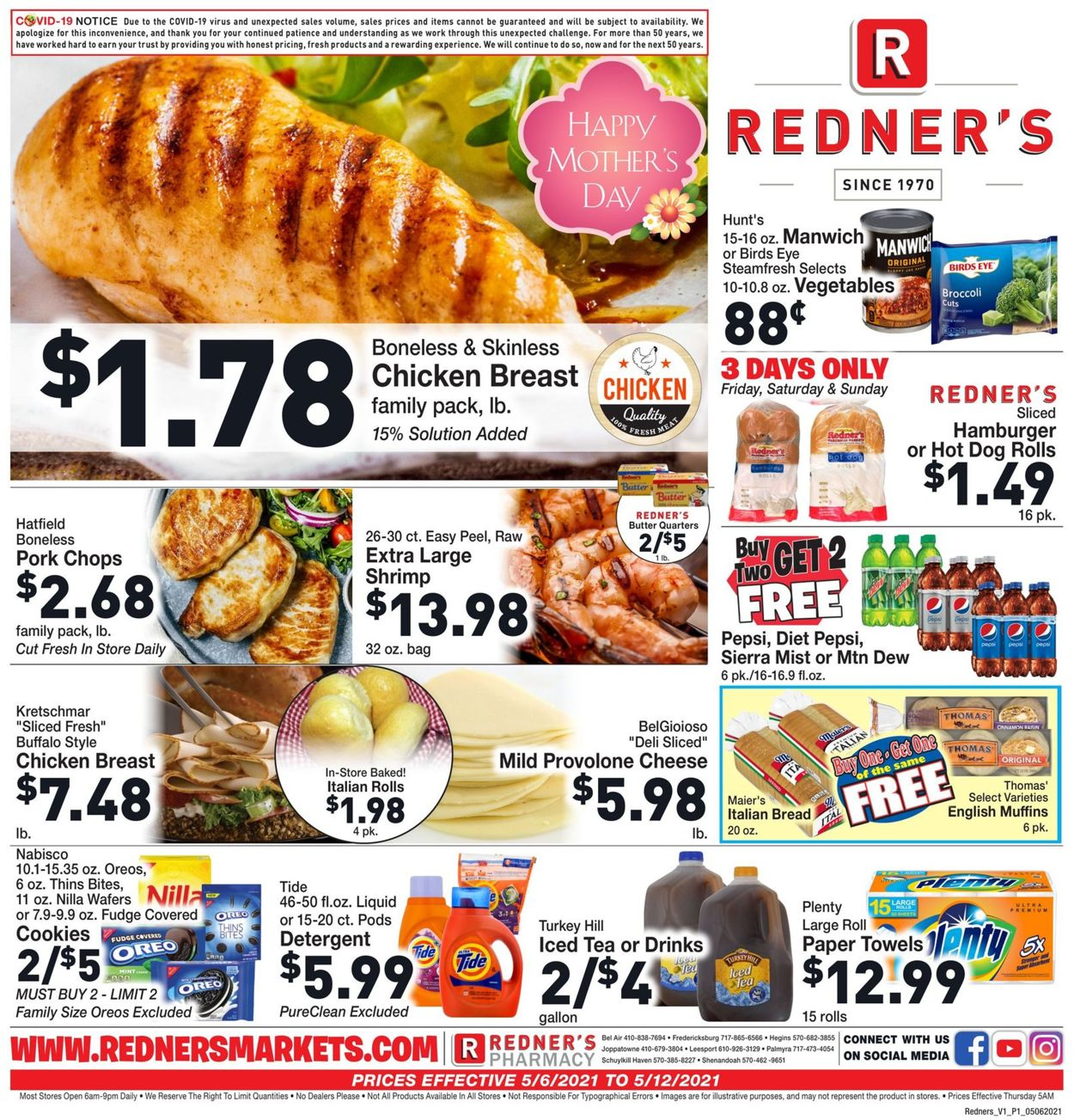 Catalogue Redner's Warehouse Market from 05/06/2021