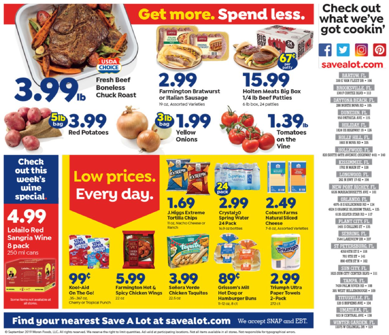 Save a Lot Current weekly ad 09/11 - 09/17/2019 [3] - weekly-ad-24.com