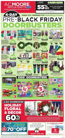 Catalogue A.C. Moore - Pre-Black Friday Ad 2019 from 11/24/2019
