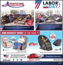 Catalogue American Furniture Warehouse from 08/20/2020