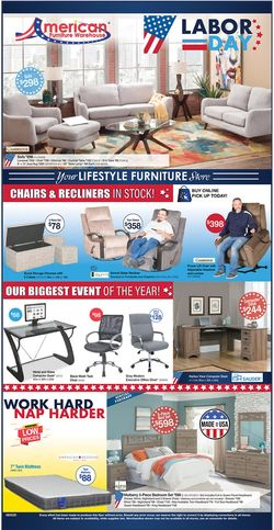 Catalogue American Furniture Warehouse from 08/31/2020