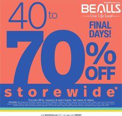 Catalogue Bealls Florida from 03/29/2020