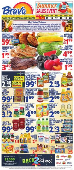 Catalogue Bravo Supermarkets from 08/14/2020