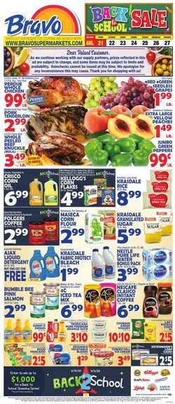 Catalogue Bravo Supermarkets from 08/21/2020