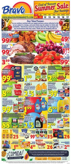 Catalogue Bravo Supermarkets from 09/11/2020