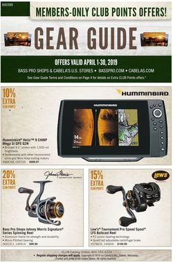 Catalogue Cabela's from 04/01/2019