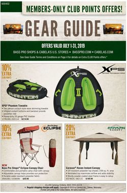 Catalogue Cabela's from 07/01/2019