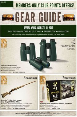 Catalogue Cabela's from 08/01/2019