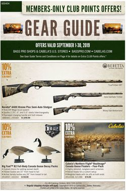 Catalogue Cabela's from 09/01/2019