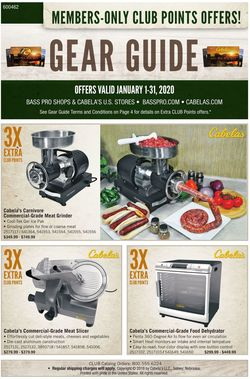 Catalogue Cabela's from 01/01/2020