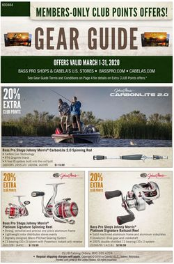 Catalogue Cabela's from 03/01/2020