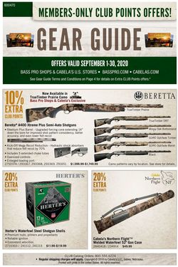 Catalogue Cabela's from 09/01/2020