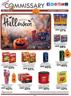 Catalogue Commissary from 10/21/2019