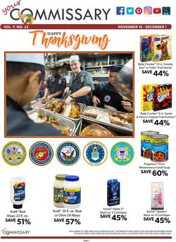 Commissary - Thanksgiving Ad 2019