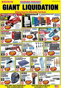 Catalogue Harbor Freight from 10/01/2019