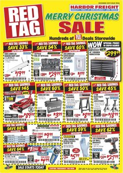 Catalogue Harbor Freight -  Christmas Ad 2019 from 12/01/2019