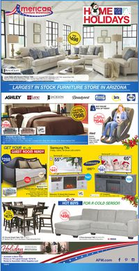 Catalogue American Furniture Warehouse - Holidays Ad 2019 from 12/04/2019