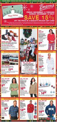 Catalogue Boscov's - Holiday Ad 2019 from 12/12/2019
