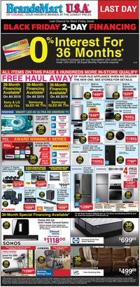 Catalogue Brandsmart USA - Black Friday Ad 2019 from 12/01/2019