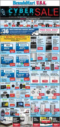 Catalogue Brandsmart USA - Cyber Monday Sale Ad 2019 from 12/01/2019