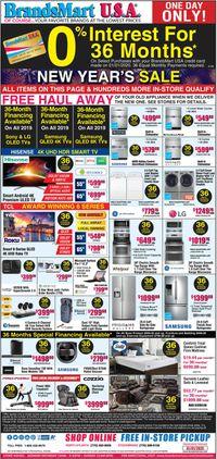 Catalogue Brandsmart USA from 01/01/2020