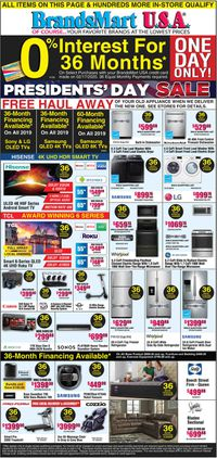 Catalogue Brandsmart USA from 02/17/2020