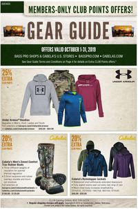 Catalogue Cabela's from 10/01/2019