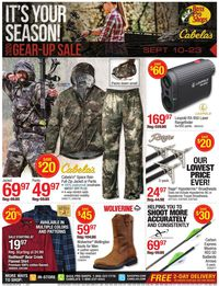 Catalogue Cabela's from 09/10/2020