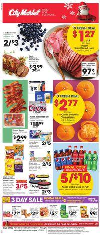 Catalogue City Market - Holiday Ad 2019 from 12/11/2019