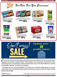 Catalogue Commissary from 09/23/2019