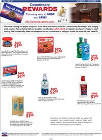 Catalogue Commissary from 11/04/2019
