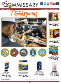 Catalogue Commissary - Thanksgiving Ad 2019 from 11/18/2019