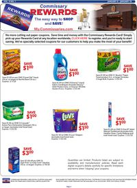 Catalogue Commissary from 01/06/2020