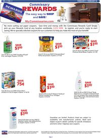 Catalogue Commissary from 02/03/2020