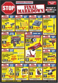 Catalogue Harbor Freight from 01/01/2020