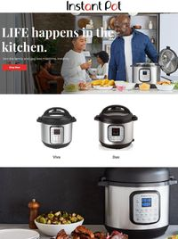 Catalogue Instant Pot Black Friday 2020 from 11/26/2020